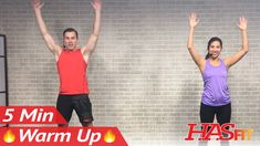 5 Min Fat Burning Cardio Warmup Exercise - 5 Minute Cardio Warm Up Exerc...