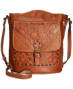 cd676cacec72 Patricia Nash Italian Folklore Lavello Sling Leather Hobo Handbags