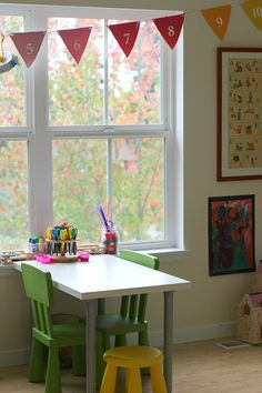 how to set up a playroom your kids will love - from toddler to preschooler to elementary age kids Preschool Set Up, Playroom Organization, Playroom Ideas, Sunroom Playroom, Toy Rooms, Kids Corner, Business For Kids, Room Themes, Kid Spaces