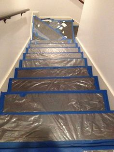 A homeowner covers her stairs in plastic. Two days later? This transformation is incredible! http://thinkurl.us/ce  #DIY #Etsy #Handmade http://thinkurl.us/ce