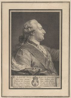 Louis XVI, Roi de France, 1783 print, French school