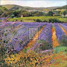 Love the contrast between the green and lavenders by T Easton Barewalls.com