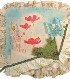 Mixed media canvas project by Donna Downey -- learn how to make your own!