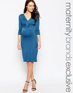 Mamalicious 3/4 Sleeved Jersey Bodycon Dress With