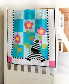 Zoe Zebra Quilt Kit floopy ears and petals