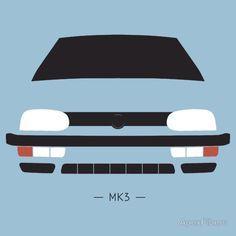 VW Golf MK3 simple front end design