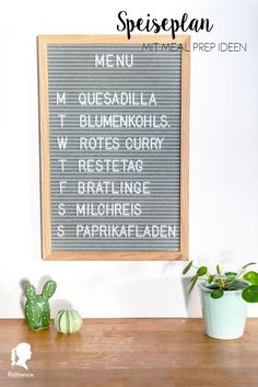Speiseplan Inspiration #2 Quesadilla, Window Boxes, Meal Prep, Curry, Menu, Lettering, Mindful, Inspiration, Tips And Tricks
