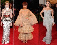 Os looks das famosas que passaram pelo tapete vermelho do Met Gala 2012 em Nova York. Confira os looks das famosas no tapete vermelho no blog de moda