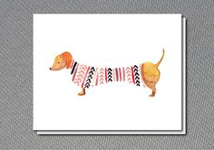 Watercolor Dachshund Cards by Jaqueline B