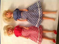 2 x vintage tressy dolls in original outfits 20+3.95