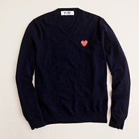 Commes Des Garcons sweater at J. Crew - the heart makes this.