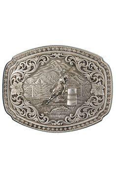 Montana Silversmiths Barrel Racer Belt Buckle