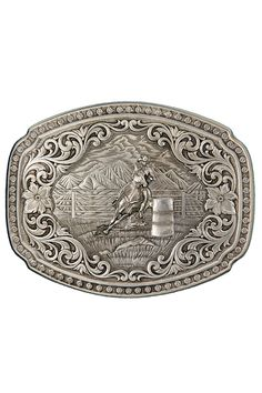 Montana Silversmiths Barrel Racer Belt Buckle