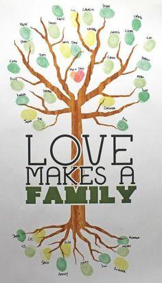 Sehe dir das Foto von Handwerklein mit dem Titel Familien Stammbaum mit Fingerabdrücken der Familie malen und andere inspirierende Bilder auf Spaaz.de an.