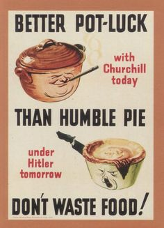 Don't Waste Food: Second World War Poster