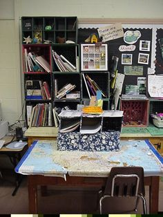 Mini book making center. Elementary school