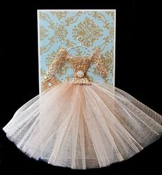 Daphne Personalized Dress Card / Keepsake DL Box / by BSylvar, $23.00