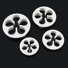 4pcs/set Flower Petals Embossed Plunger Cutters Mold Fondant Cake Decorating Tool DIY Craft Pastry Baking Kitchen Accessories by ToonTopper on Etsy