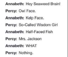 Percy's and annabeth's combacks!!!