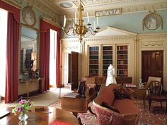 The Library - Berrington Hall - Leominster - Herefordshire - England - designed by Henry Holland in for Thomas Harley Classical Interior Design, English Interior, French Interior, Classic Interior, Georgian Interiors, Georgian Homes, Palace Interior, Interior And Exterior, Wilton House