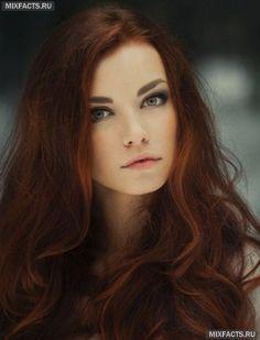 модные рыжие цвета волос 2014