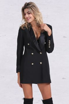 8DESS Double Breasted Long Suit Blazer Autumn Cool Slim White Ladies Blazer Women Coat Jacket