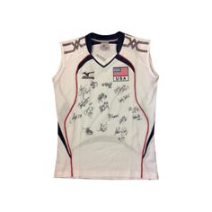 *** My prize for placing in the Top 3! It's a  signed USA Volleyball National Team jersey.