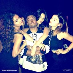 Selena Gomez, Alfredo Flores, Kendall Jenner and Kylie Jenner
