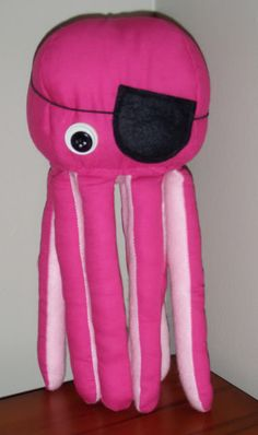 Pink Pirate Octopus - TOYS, DOLLS AND PLAYTHINGS  - Holiday crafts, Knitting, sewing, crochet, tutorials, children crafts, jewelery, needlework, swaps, papercrafts, cooking and so much more on Craftster.org
