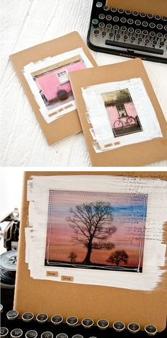 Brighten up a journal cover or mixed-media piece with just some gesso, a transparency or two, and a few stitches. Make your own with our DIY tutorial.
