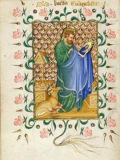 St. Luke Painting the Virgin  Prayer Book, in Latin  Illuminated by Michelino Molinari da Besozzo  Italy, Milan, ca. 1420  170 x 120 mm