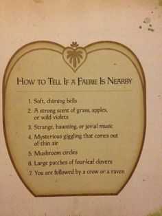 How to tell if a faerie is near