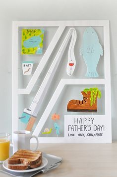 Wish Dad a happy Father's Day with this larger than life DIY card.