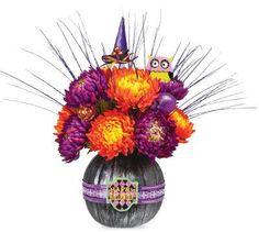 Black Floral Pumpkin