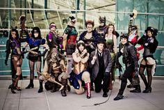 batman cosplay robin scarecrow catwoman steampunk Batgirl Poison Ivy comic con riddler Two Face wonderwoman DC steampunk