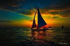 of sailboats & sunsets... by MalNino, via Flickr