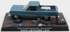 EDICOLA BONDCOL076 1/43 FORD FALCON RANCHERO PICK-UP 1960 - JAMES BOND 007 - GOLDFINGER - Skala:: 1/43Zustand: MCode: BONDCOL076Farbe: BLUE METMaterial: Die-Cast  Anmerkung: JAMES BOND 007 DIORAMA COLLECTION - TV SERIES