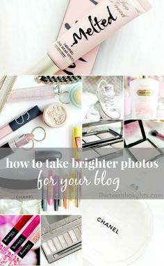 Tips for taking brighter photos for your blog. I love all the very bright & white photos, but I can never figure out how to do it. This post has some tips.