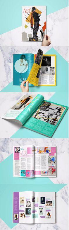 Creative Magazine Template InDesign INDD - A4