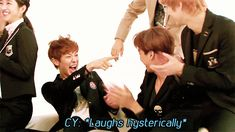 Animated gif uploaded by Forever*EXO-L. Find images and videos about baekhyun, chanyeol and exo k on We Heart It - the app to get lost in what you love. Baekyeol, Chanbaek, Kpop Exo, Exo K, Park Chanyeol, Sehun, Got7, Mafia Game, Exo Facts