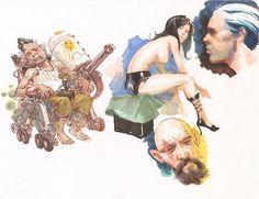 Kim Jung Gi Sketch Collection, News, and More! Art Drawings Sketches, Illustration Sketches, Comic Books Art, Comic Art, Junggi Kim, Graphic Novel Art, Charcoal Art, Kim Jung, Art For Art Sake