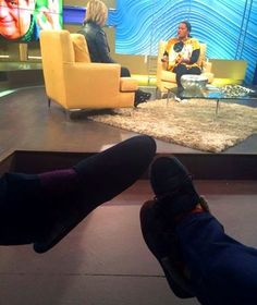Which slippers are #TeamLunga and #TeamJanez?  Watch @3talk right now to catch @janezvermeiren  and @LungaShabalala #SeeMoreLumia