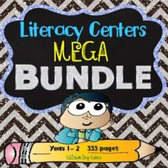 SAVE over 30% - 300 + pages! Literacy Centers Mega Bundle - Great value, variety of activities to cater for different learning styles. 12 fun products combined into one Mega Pack. Check it out now.