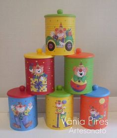 1 million+ Stunning Free Images to Use Anywhere Tin Can Crafts, Diy And Crafts, Diy Craft Projects, Projects For Kids, Baby Formula Cans, Decoupage Tins, Circus Theme Party, Flower Pens, House Ornaments