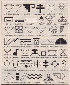 Symbols from the Book of the Camp Fire Girls. Published 1954 by Camp Fire Girls, Inc. Inspiration Art, Tattoo Inspiration, Creative Inspiration, Symbols And Meanings, Mayan Symbols, Viking Symbols, Egyptian Symbols, Viking Runes, Ancient Symbols