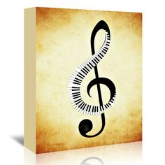 You'll love the 'Clef Music Musically' Graphic Art on Wrapped Canvas at Wayfair - Great Deals on all Décor & Pillows products with Free Shipping on most stuff, even the big stuff.