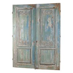 Pair Painted French Doors