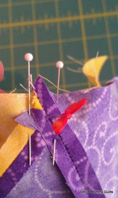 Matching Perfect Points. This is a great tutorial on how to match up points on your quilt projects.