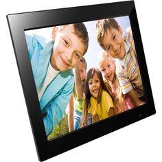 "FileMate Joy Series 15"" Digital Photo Frames, Black"