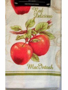 Apple Kitchen Towels Dishcloths Set $15.95